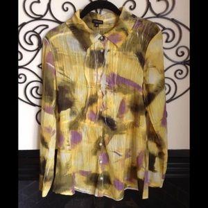 komarov Crinkle blouse medium button front blouse